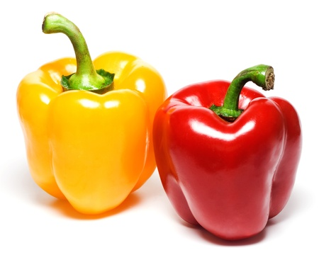 red  green: Yellow and red peppers