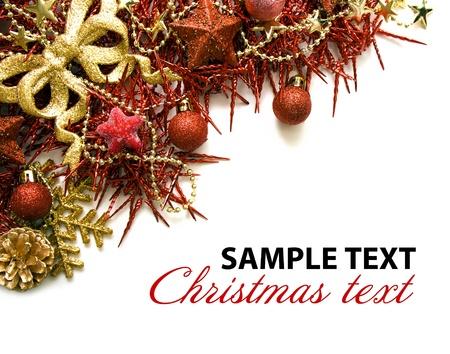 Christmas border over white Stock Photo - 10811228