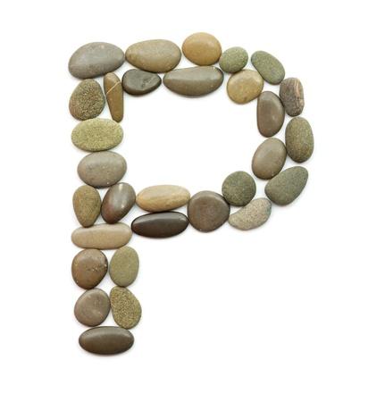 path alphabet of ocean stones photo