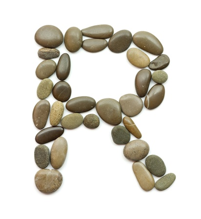 path alphabet of ocean stones photo