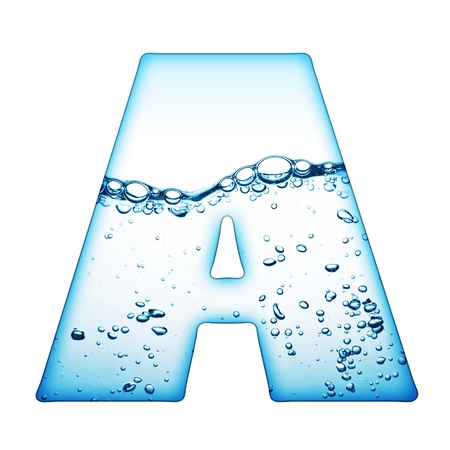 alphabet silhouette: One letter of water wave alphabet  Stock Photo