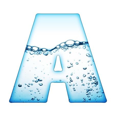 abecedario: Una letra del alfabeto de la ola de agua  Foto de archivo