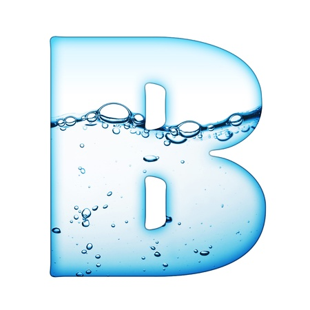 One letter of water wave alphabet Stock Photo - 9511535
