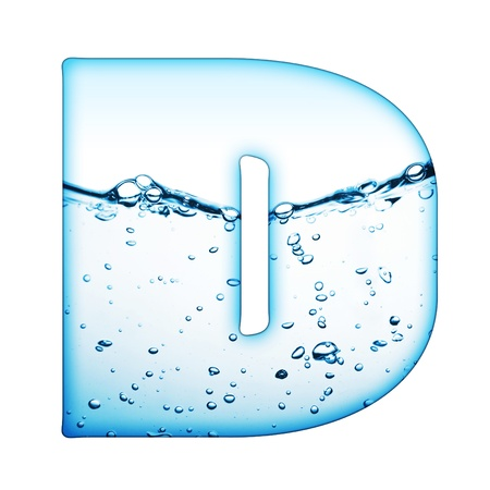 One letter of water wave alphabet Stock Photo - 9511547