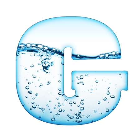One letter of water wave alphabet  Stock Photo - 9511563