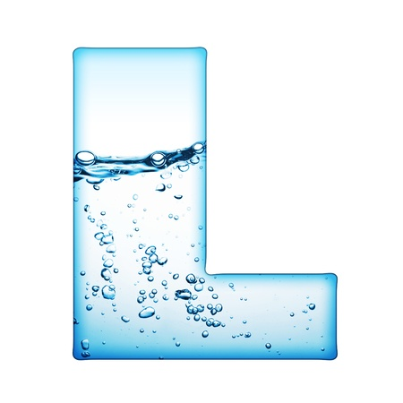 One letter of water wave alphabet Stock Photo - 9511497