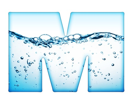 bubble alphabet: One letter of water wave alphabet  Stock Photo