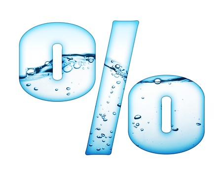ink in water: One letter of water wave alphabet  Stock Photo
