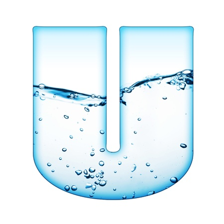 One letter of water wave alphabet  Stock Photo - 9511522