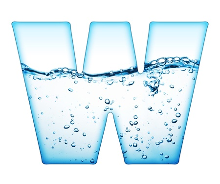 ripple  wave: One letter of water wave alphabet  Stock Photo