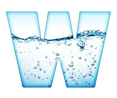 carta de agua liquida: Una letra del alfabeto de ola de agua  Foto de archivo