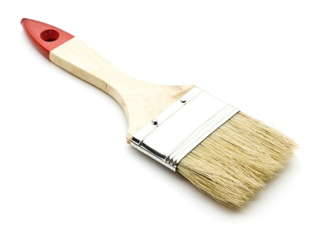 Brand new paint brush isolated on a white background Stock Photo - 9511514