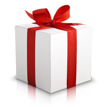 White box, bow and ribbon photo