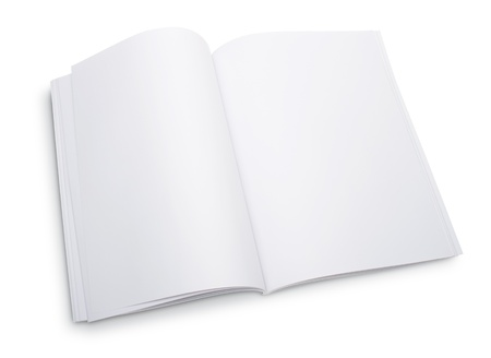 Blank open magazine Stock Photo - 9516453