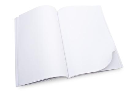 Blank open magazine Reklamní fotografie