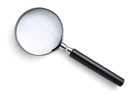 lupa: Lupa aislado en blanco con sombra suave