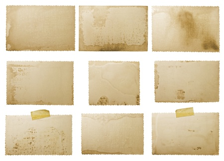 old photo paper texture isolated on white background Stock Photo - 9516489