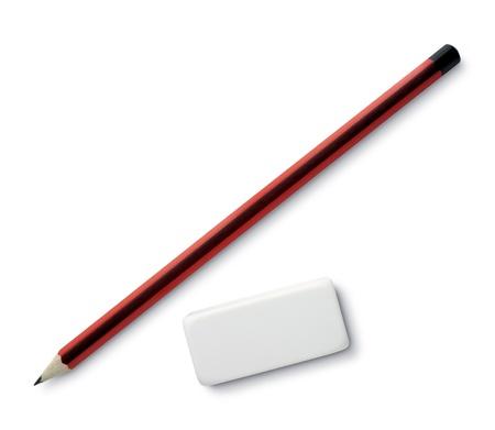 sacapuntas: Sacapuntas de l�piz y borrador en blanco