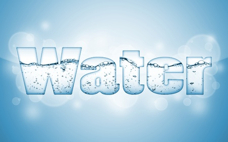 conceptual symbol: water wave word WATER