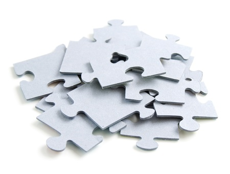 whote: puzzle or jigsaw on whote