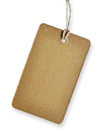 motouz: Prázdný tag izolovaných na bílém