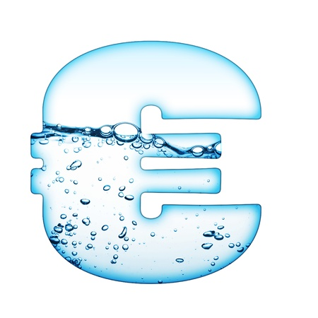 One letter of water wave alphabet  Stock Photo