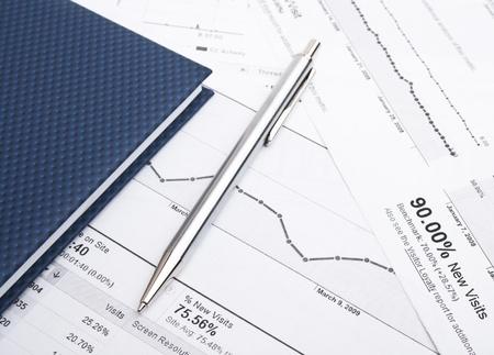 perdidas y ganancias: Negocios balance Foto de archivo