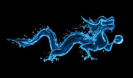 dragones: El agua del drag�n Foto de archivo
