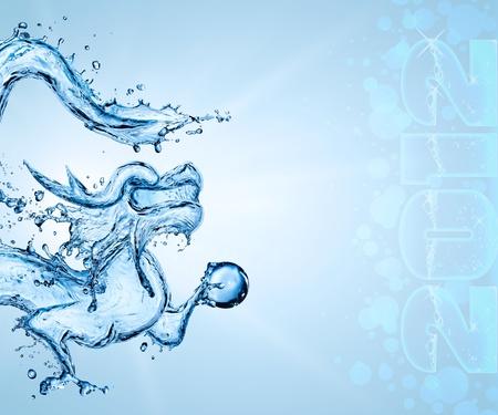 computer attack: Water dragon symbol of 2012