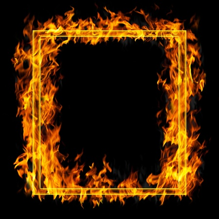 ardent: Fire frame  Stock Photo