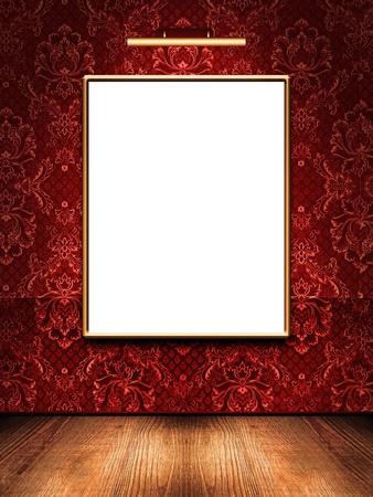 art gallery: Cornice sul muro nella stanza Archivio Fotografico