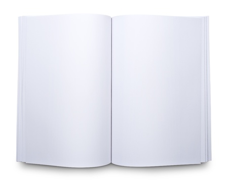 blank book: Blank open magazine Stock Photo