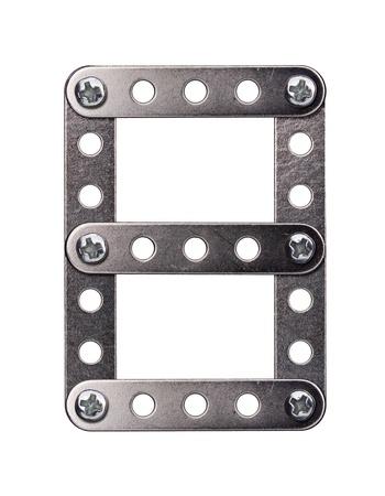 Metal meccano alphabet symbol