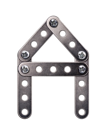 Metal meccano alphabet symbol photo