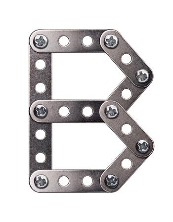 Metal meccano alphabet symbol photo