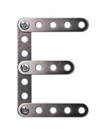 Metal meccano alphabet symbol Stock Photo - 11316482
