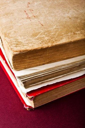 untidiness: A stack of old books on the table