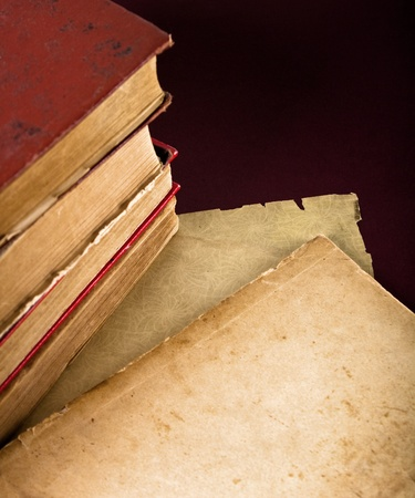 A Stack of old books photo