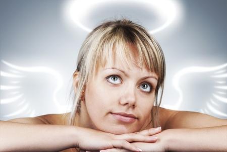 sexy angel: beautiful woman as angel
