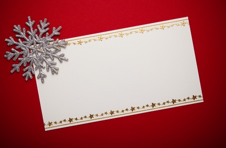 Christmas card with space and christmas decoration photo