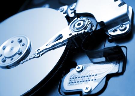 harddrive: close up of hard disk