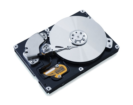 mb: Hard disk drive HDD isolated on white background with soft shadow