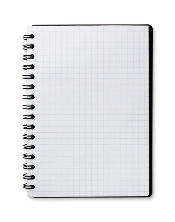 copybook: blank notebook isolated on white