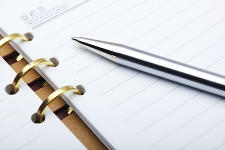 notebook and pen  Stock Photo - 12464580