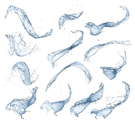 splash: water splash isolated on white