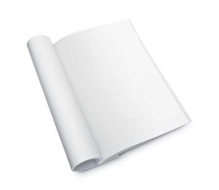 notebook page: Blank open magazine Stock Photo