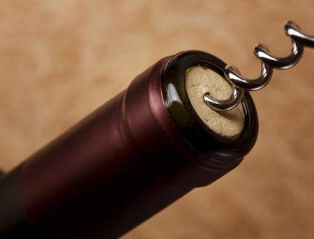 red rose bokeh: Wine Bottle closeup
