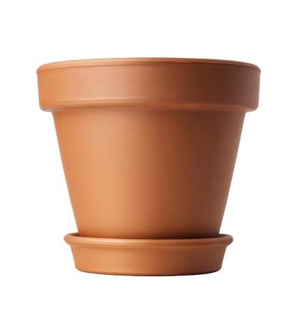 flower pot: flower pot isolated on white Stock Photo