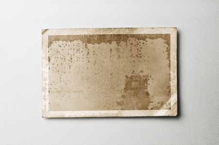 old photograph: Old photo paper on vintage paper with clipping path for the inside Stock Photo