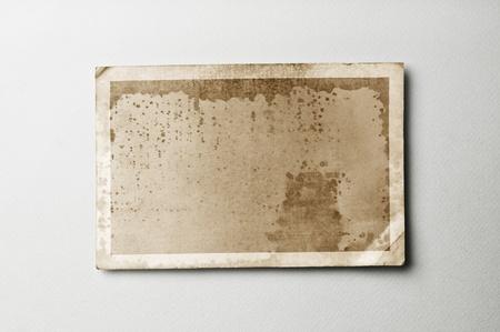 Vecchia carta fotografica su carta d'epoca con percorso di clipping per l'interno